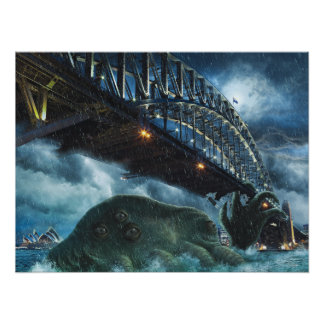 Poster Cthulhu Attacks Sidney Australia