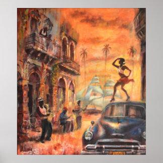 Poster Cuban danse