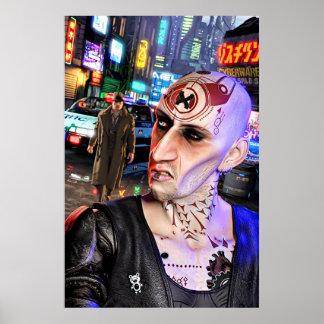 Poster Cyberpunk Streetlife #1