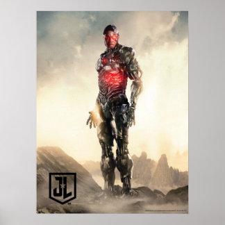 Poster Cyborg de la ligue de justice | sur le champ de