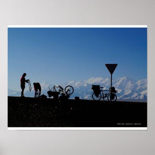 Poster Cyclotourisme au Kirghizistan