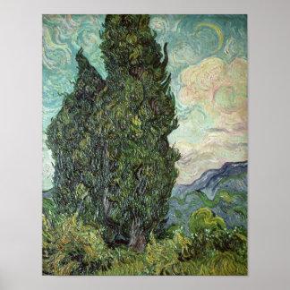 Poster Cyprès de Vincent van Gogh |, 1889
