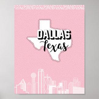 Poster Dallas assez dans le rose