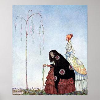 Poster Dame âgée par Kay Nielsen