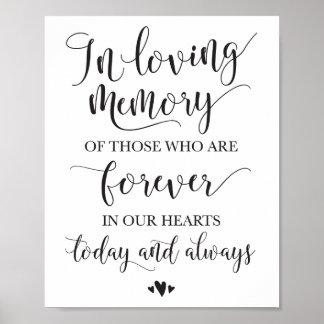 Poster Dans le signe affectueux de cérémonie de mariage