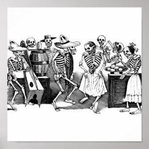 """Poster """"Dansant le Jarabe dans l'autre monde """""""