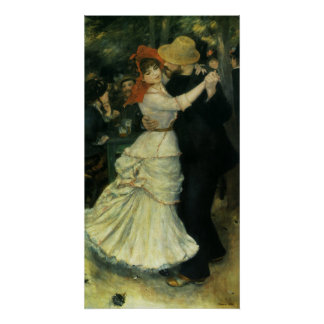 Poster Danse chez Bougival par Pierre Renoir, art vintage