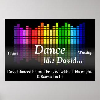 Poster Danse comme David