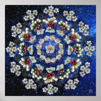 Poster Danse de fleur