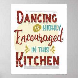 Poster Danse dedans fortement encouragée dans cette