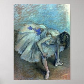 Poster Danseur assis par | d'Edgar Degas, c.1881-83
