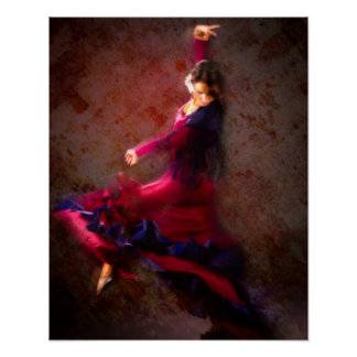 Poster Danseur de flamenco