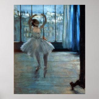 Poster Danseur d'Edgar Degas | devant une fenêtre