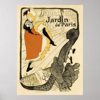 Poster Danseur Jane Avril, Toulouse Lautrec de Nouveau
