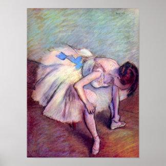Poster Danseur par Edgar Degas, art vintage de ballet