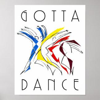 Poster Danseurs abstraits dansant - illustration d'amant