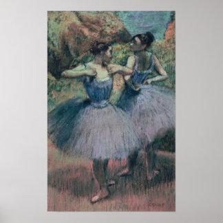 Poster Danseurs d'Edgar Degas | dans la violette