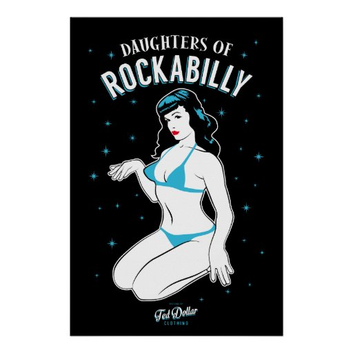Poster Daughters of Rockabilly