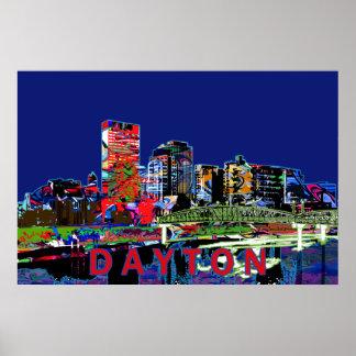 Poster Dayton dans le graffiti