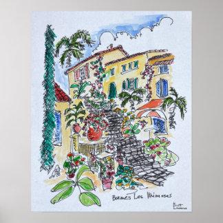 Poster D'azur des Bormes-les-Mimosas |