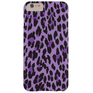 Poster de animal, arrière - plan de léopard - noir coque iPhone 6 plus barely there
