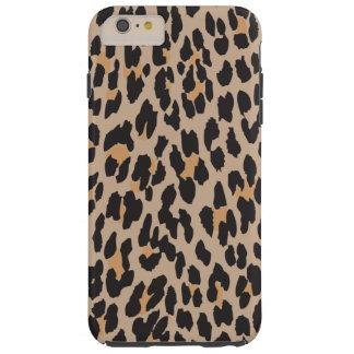 Poster de animal, arrière - plan de léopard - noir coque tough iPhone 6 plus