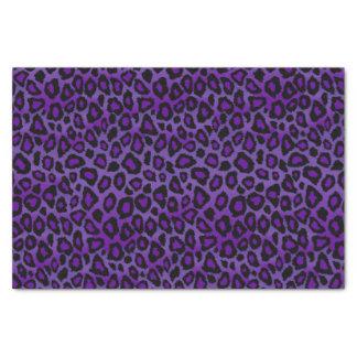 Poster de animal assez pourpre et noir de léopard papier mousseline