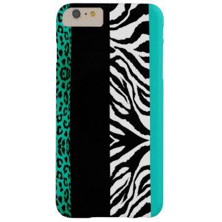 Poster de animal bleu de coutume de léopard et de coque iPhone 6 plus barely there