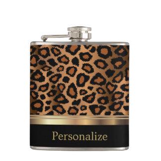 Poster de animal chic de léopard flasques