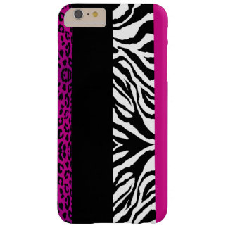Poster de animal de coutume de léopard et de zèbre coque barely there iPhone 6 plus