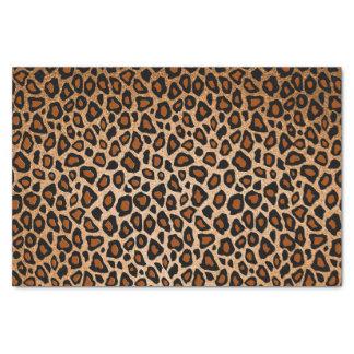 Poster de animal de cuivre et noir de léopard papier mousseline