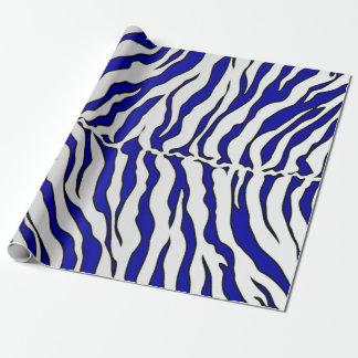 Poster de animal de rayures de tigre de bleu papier cadeau