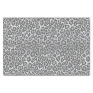 Poster de animal gris de léopard papier mousseline