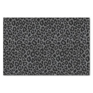 Poster de animal gris et noir de léopard papier mousseline
