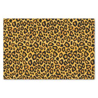 Poster de animal jaune et noir d'or de léopard papier mousseline