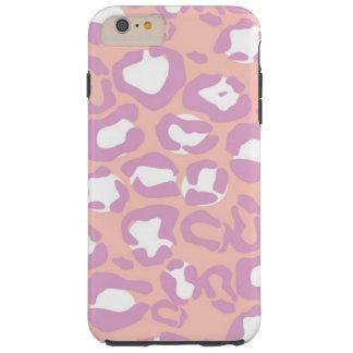 Poster de animal, léopard repéré - rose pourpre coque tough iPhone 6 plus