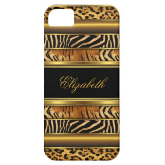 poster de animal mélangé d'or chic élégant coque iPhone 5 Case-Mate