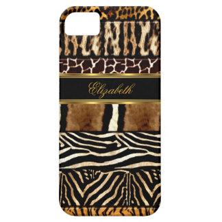 poster de animal mélangé d'or élégant d'iPhone Coques Case-Mate iPhone 5