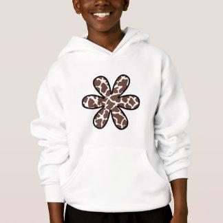 Poster de animal (motif de girafe), fleur - Brown