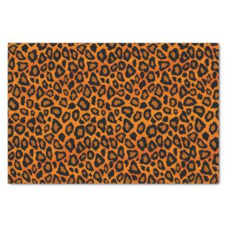 Poster de animal orange et noir de léopard papier mousseline