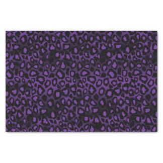 Poster de animal pourpre et noir de léopard papier mousseline