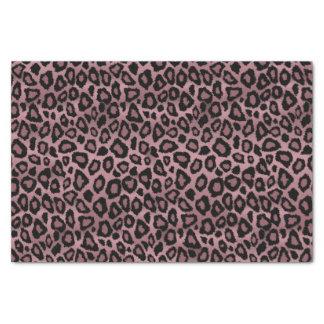 Poster de animal rose et noir poussiéreux de papier mousseline