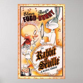 Poster ™ de BUGS BUNNY et musical d'ELMER FUDD™