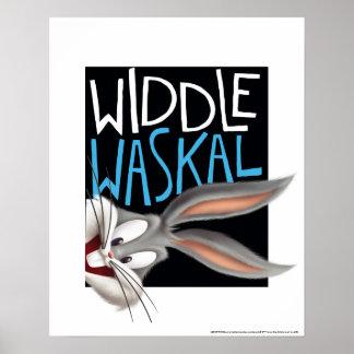 Poster ™ de BUGS BUNNY - Widdle Waskal