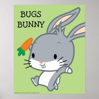 Poster ™ de Chibi BUGS BUNNY avec la carotte