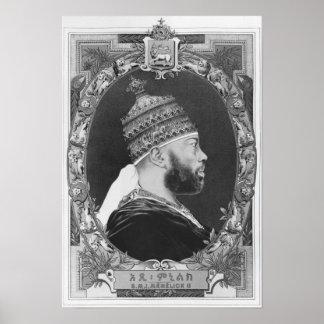 Poster de l'Ethiopie, Menelik II
