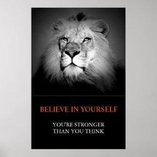 Poster De motivation à la mode croient en vous-même le