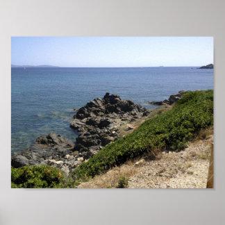 Poster de rochers en Corse, France