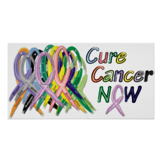 Poster De traitement de Cancer affiche de conscience