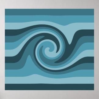 Poster Décor bleu turquoise d'Aqua